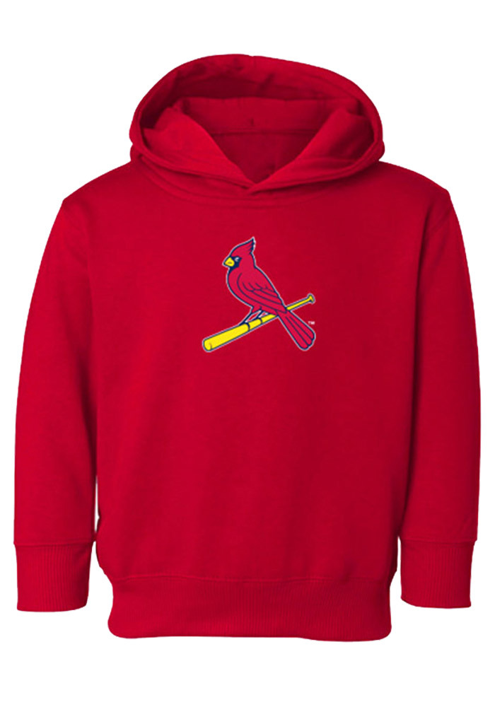 St Louis Cardinals Toddler Red Toddler Cap Logo Long Sleeve Hooded Sweatshirt - Image 1