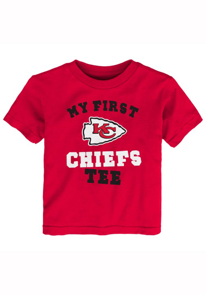 Kansas City Chiefs Toddler Red Toddler `My First Chiefs` Short Sleeve T-Shirt - Image 1