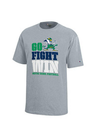 Notre Dame Fighting Irish Youth Grey Go Fight Win T-Shirt