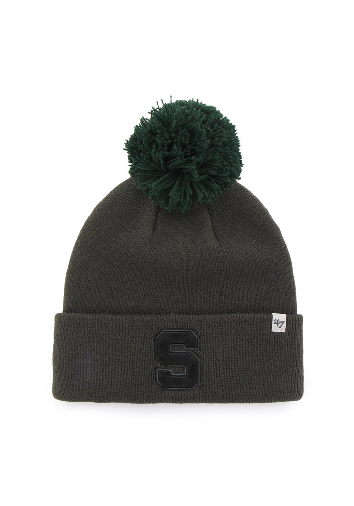 47 Michigan State Spartans Charcoal Justus Womens Knit Hat - Image 1