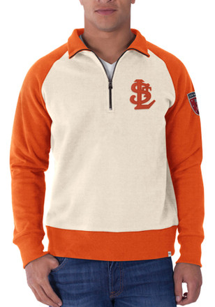 '47 St Louis Browns Mens White 1941 Pullover 1/4 Zip Fashion Pullover