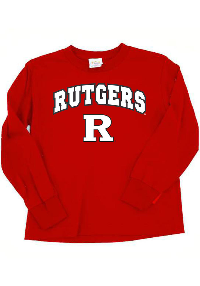 Rutgers Scarlet Knights Baby Red Arch Long Sleeve T-Shirt - Image 1