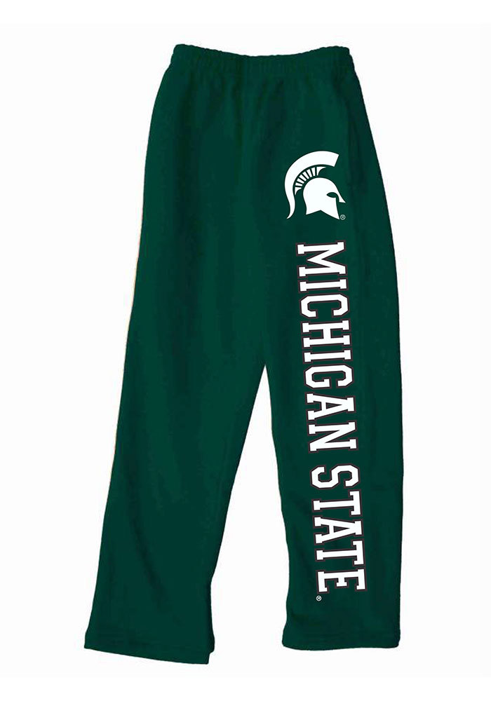 Michigan State Spartans Baby Green Logo Bottoms Sweatpants - Image 1