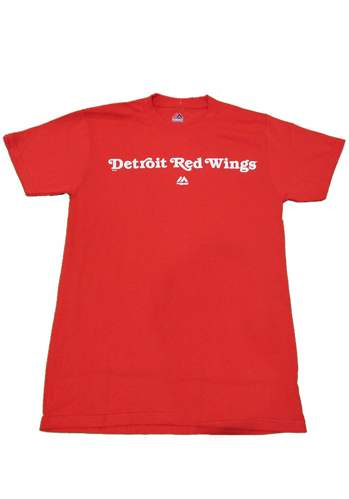 Majestic Detroit Red Wings Red Rally Loud Tee