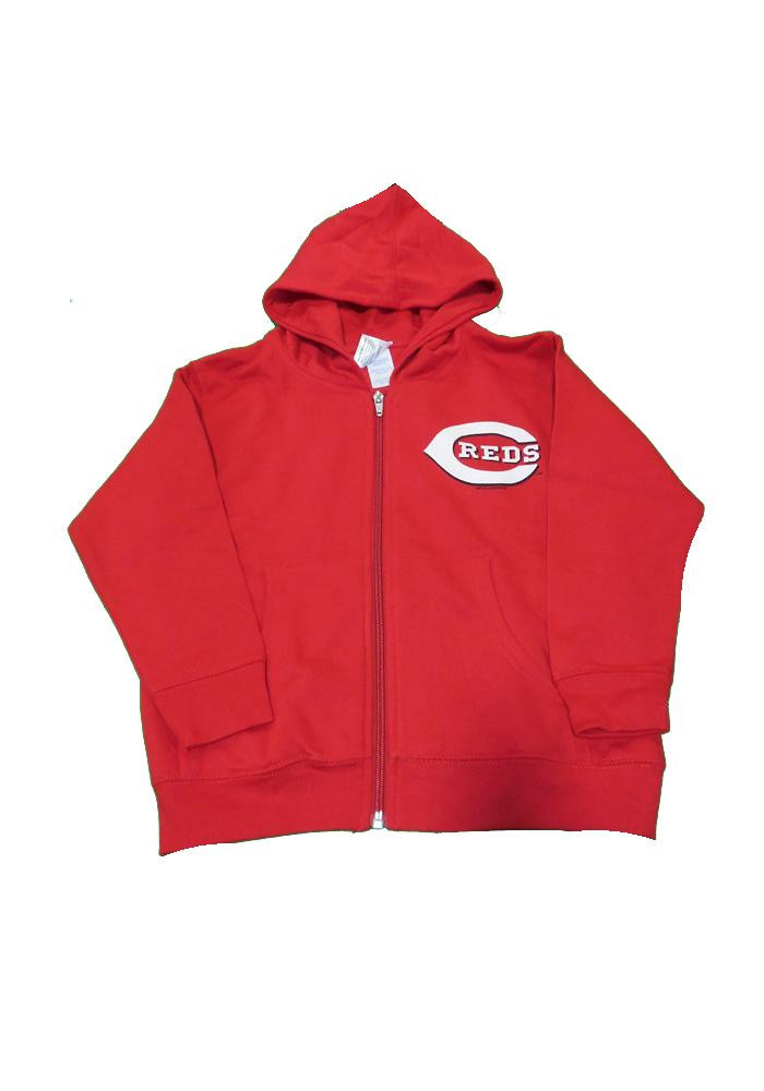 Cincinnati Reds Toddler Red Full Zip Hood Long Sleeve Full Zip Jacket - Image 1