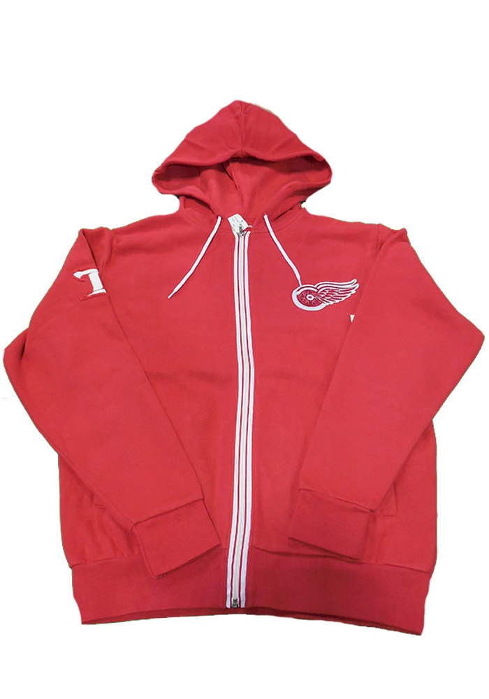 Detroit Red Wings Mens Red Ty Long Sleeve Zip Fashion - Image 1