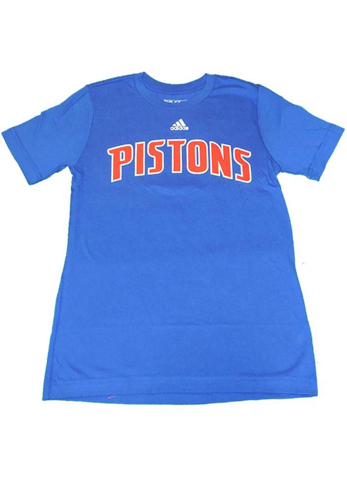 Detroit Pistons Youth Blue Youth Rally Loud Short Sleeve T-Shirt - Image 1