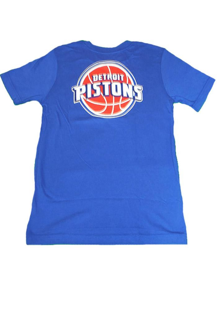 Detroit Pistons Youth Blue Youth Rally Loud Short Sleeve T-Shirt - Image 2