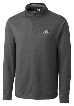 Cutter and Buck Philadelphia Mens Grey Topspin 1/4 Zip Performance Pullover
