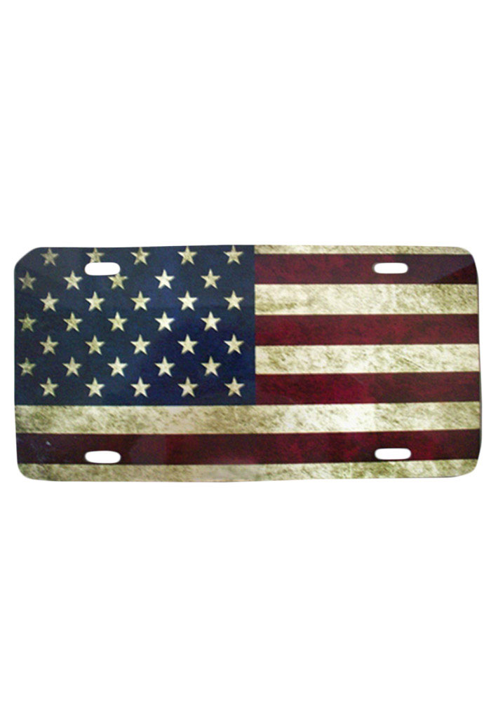 Team USA Rustic USA Flag Car Accessory License Plate - Image 1