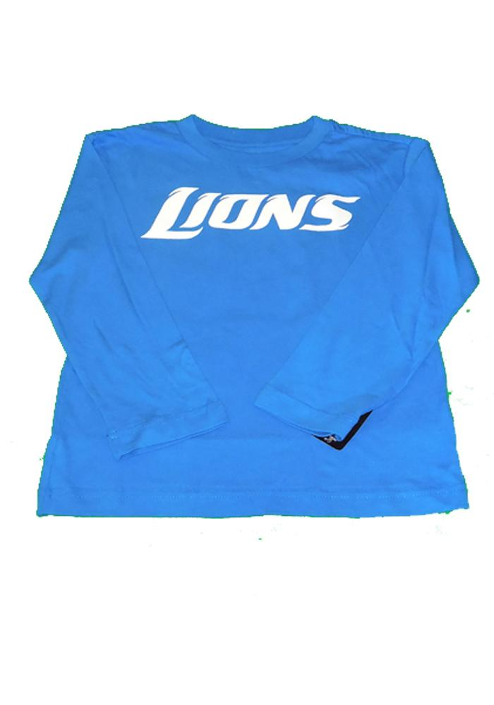 Detroit Lions Youth Blue Youth Rally Loud Long Sleeve T-Shirt - Image 2