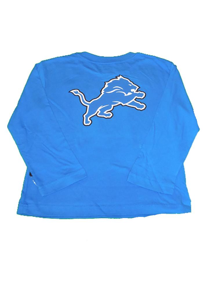 Detroit Lions Youth Blue Youth Rally Loud Long Sleeve T-Shirt - Image 3