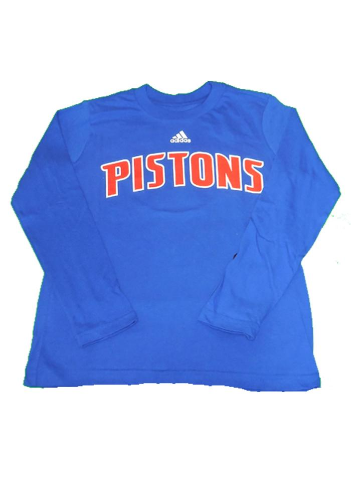 Detroit Pistons Youth Blue Youth Rally Loud Long Sleeve T-Shirt - Image 2
