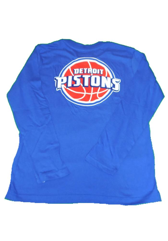 Detroit Pistons Youth Blue Youth Rally Loud Long Sleeve T-Shirt - Image 3