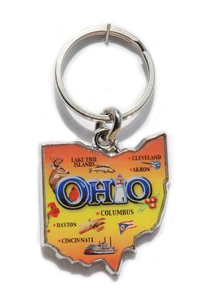 Ohio Map Keychain - Image 1