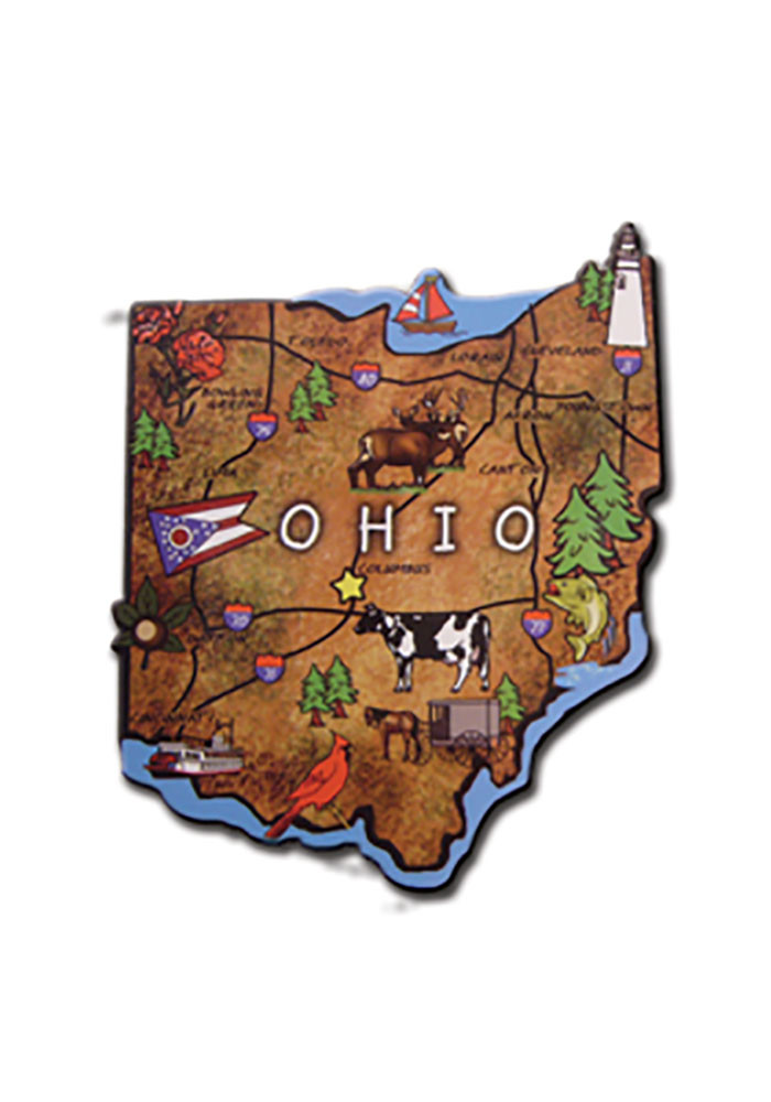 Ohio Wood Magnet - Image 1