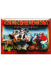 Kentucky Red Collage Magnet