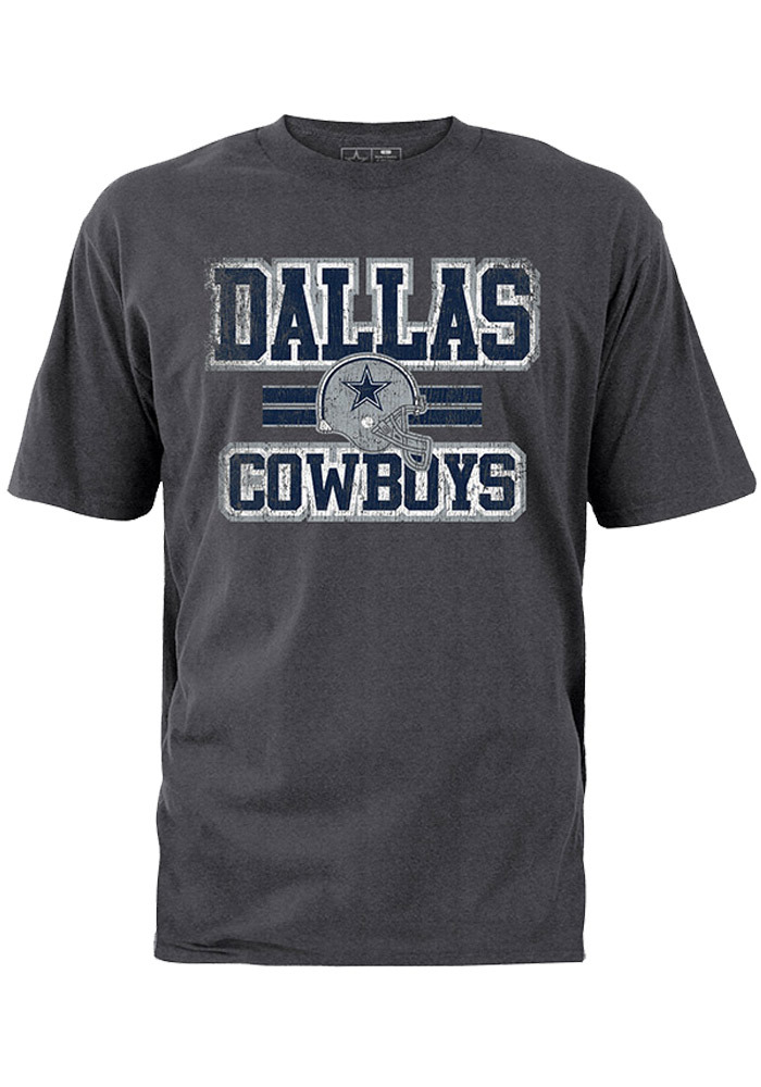 Dallas Cowboys Grey Inside Lines Short Sleeve T Shirt - Image 1