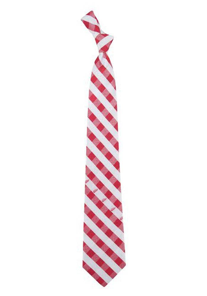 Detroit Red Wings Check Mens Tie - Image 1