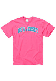 New Jersey Pink Neon Arch Tee