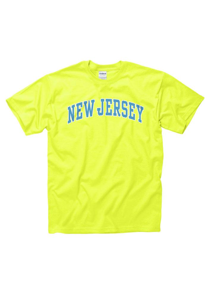 New Jersey Yellow Neon Arch Short Sleeve T Shirt - Image 1