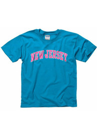New Jersey Youth Blue Neon Arch Tee