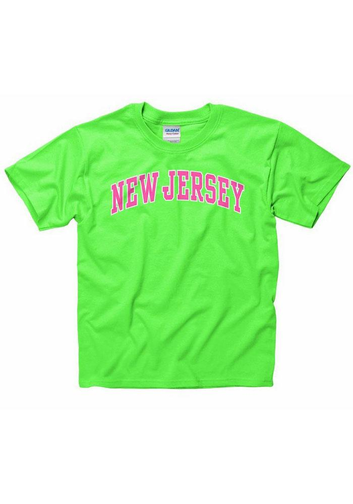 New Jersey Youth Green Neon Arch Short Sleeve T Shirt - Image 1