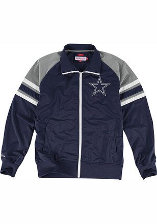 Mitchell and Ness Dallas Cowboys Mens navy NFL Trade Deadline Track Jacket Track Jacket
