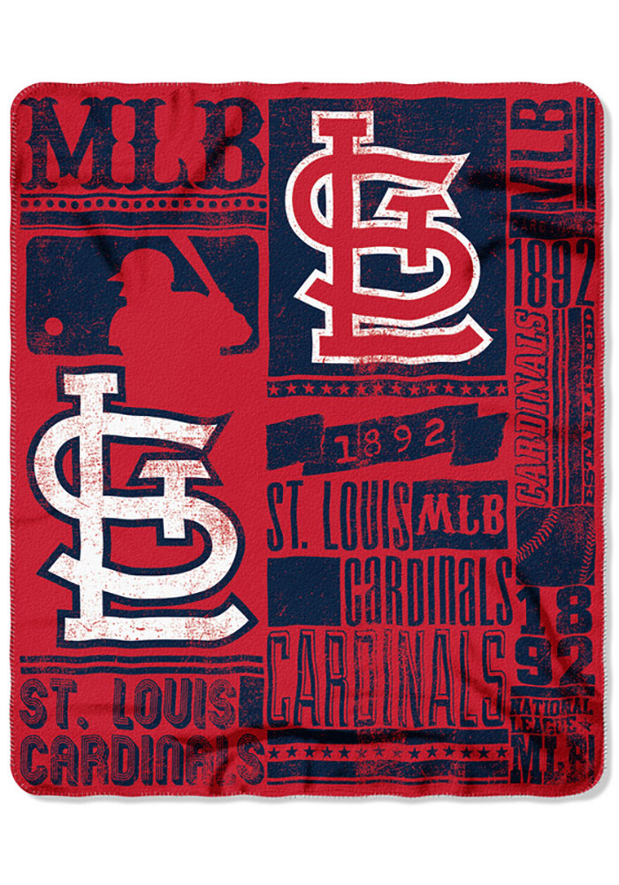 St Louis Cardinals Strength Fleece Blanket - Image 1