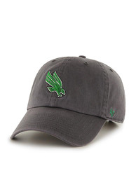North Texas Mean Green 47 Clean Up Adjustable Hat - Charcoal