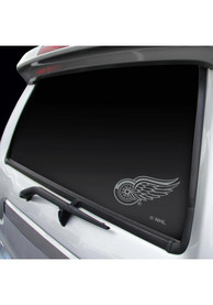 Detroit Red Wings Metallic Auto Decal - Silver