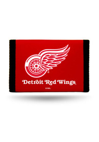 Detroit Red Wings Nylon Trifold Wallet - Red