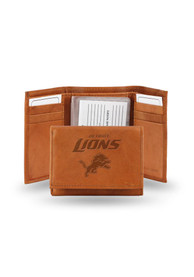 Detroit Lions Leather Trifold Wallet - Brown