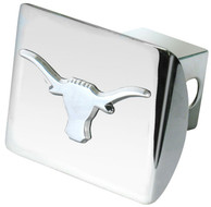 Texas Longhorns Chrome Car Accessory Hitch Cover