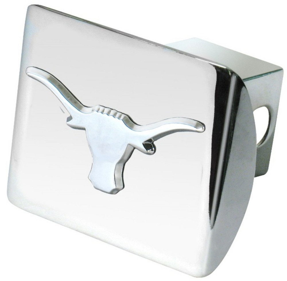 Texas Longhorns Chrome Car Accessory Hitch Cover - Image 1