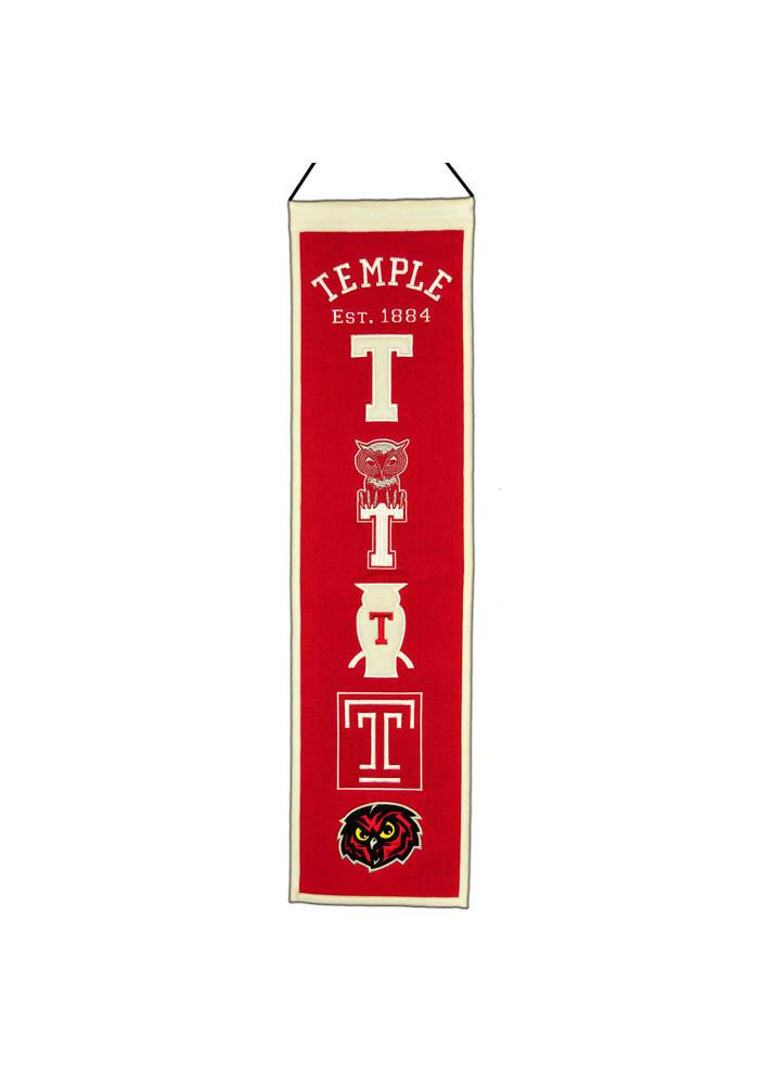 Temple Owls 8x32 Heritage Banner - Image 1