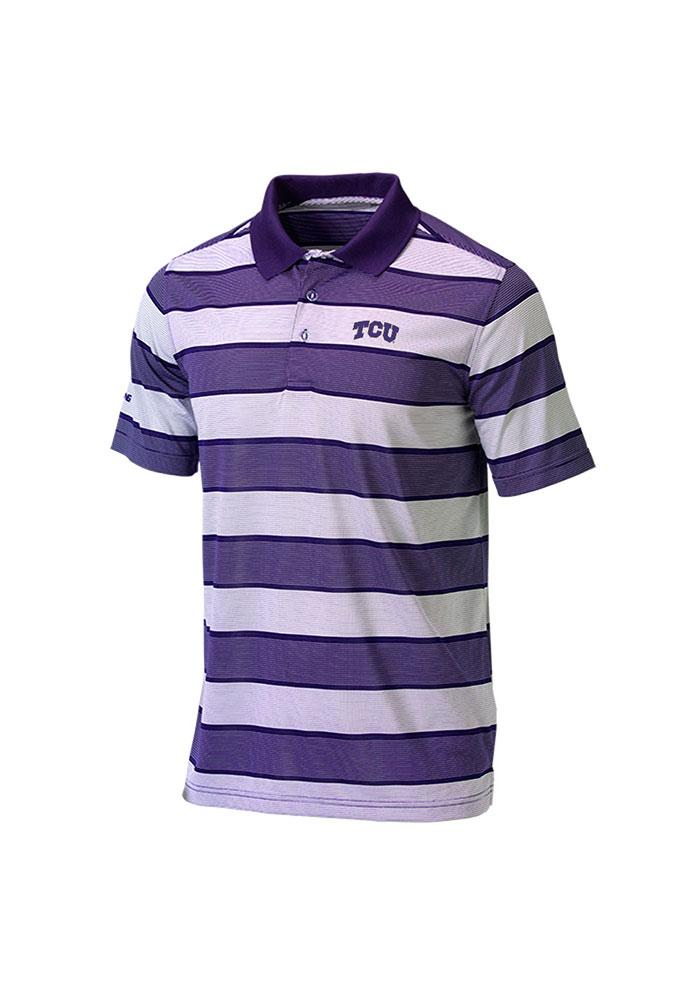 TCU Horned Frogs Mens Purple Dance Floor Short Sleeve Polo - Image 1