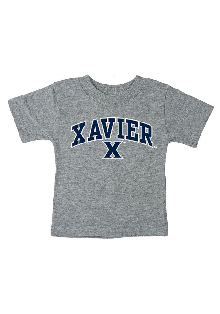 Xavier Musketeers Infant Arch Short Sleeve T-Shirt Grey - Image 1