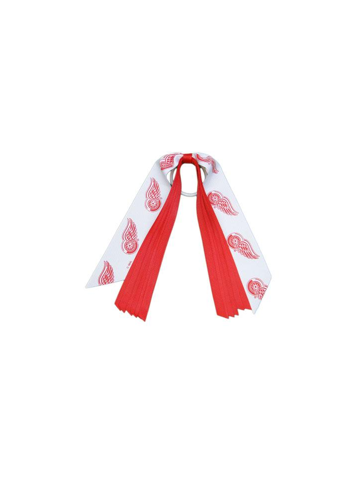Detroit Red Wings Pony Streamer Kids Hair Ribbons - Image 1