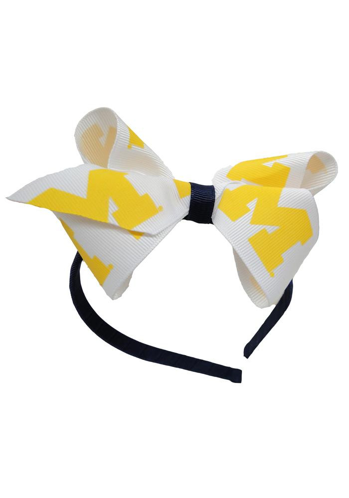 Michigan Wolverines Jr Bow Kids Headband - Image 1