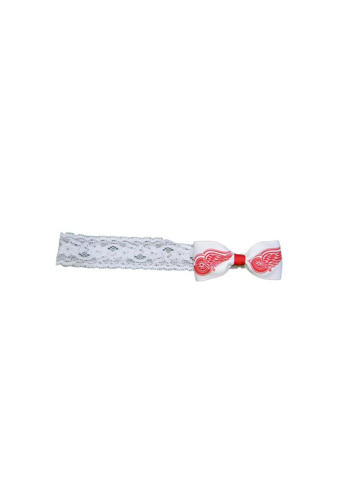 Detroit Red Wings Lace Baby Headband - Image 1