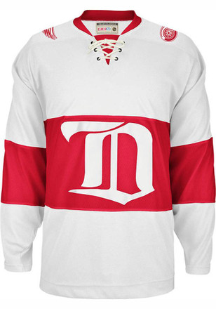 Detroit Mens White Team Classic Jersey