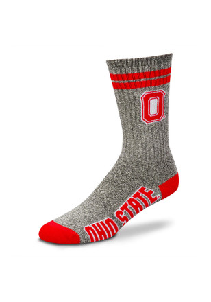 Ohio State Buckeyes Two Stripe Womens Tube Socks