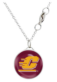 Central Michigan Chippewas Womens Single Drop Necklace - Maroon