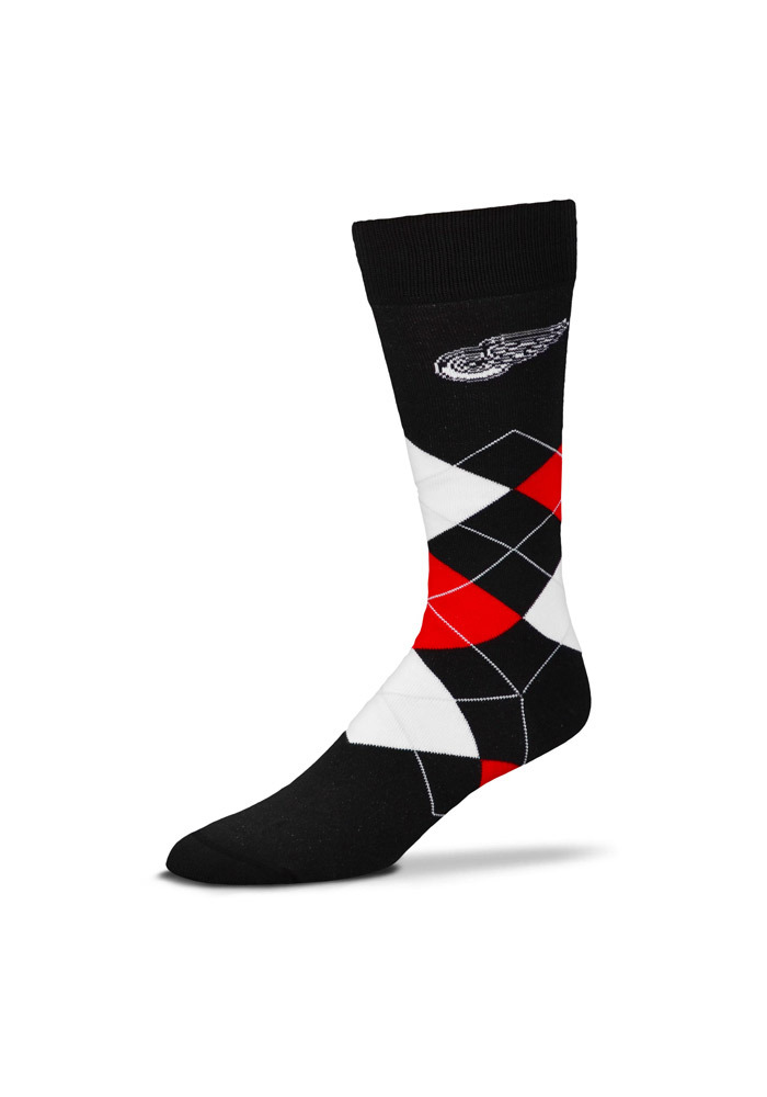 Detroit Red Wings Acrylic Argyle Socks - Black