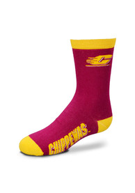 Central Michigan Chippewas Youth Red Logo/Name Quarter Socks