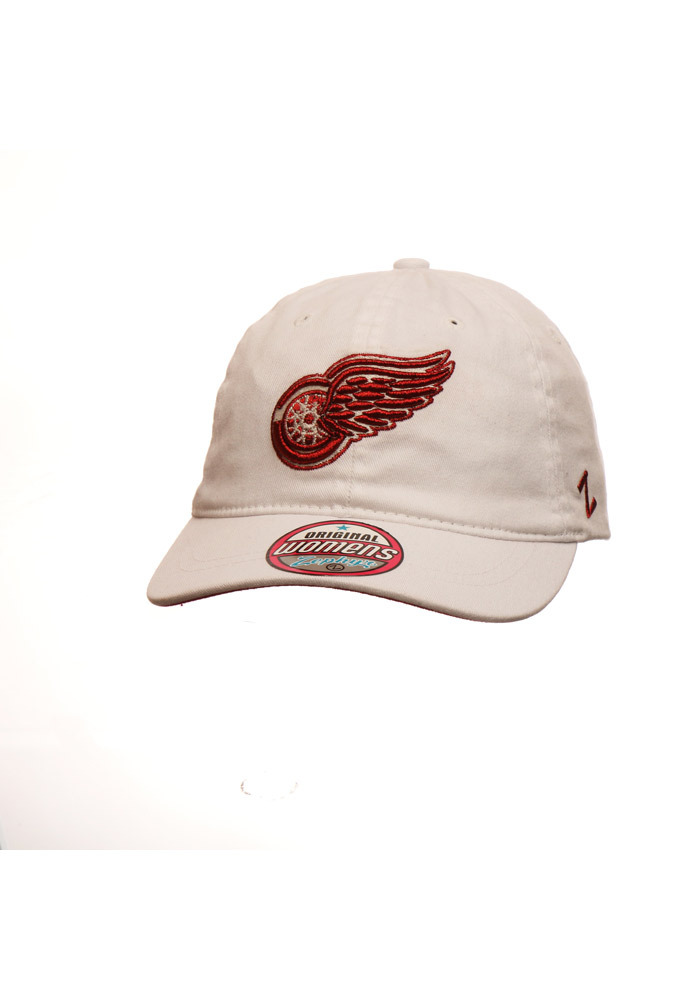 Zephyr Detroit Red Wings White Tomboy Womens Adjustable Hat - Image 1