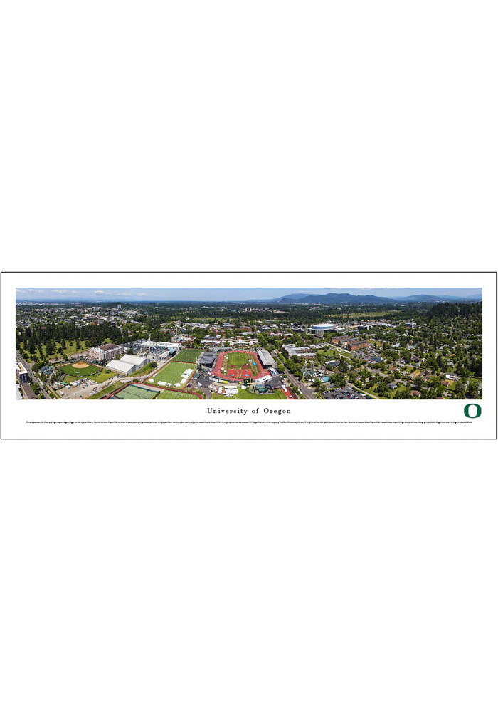 Oregon Ducks Campus Panorama Unframed Poster - Image 1