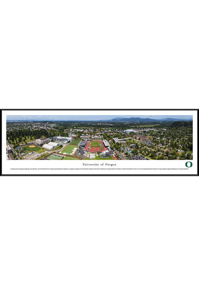 Oregon Ducks Campus Panorama Framed Posters - Image 1