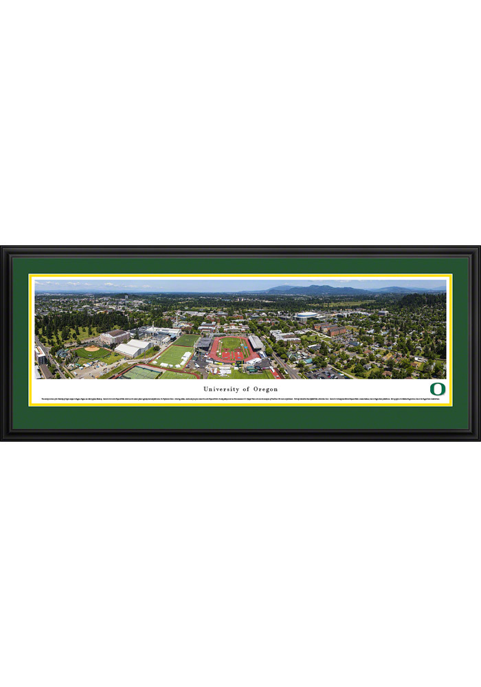 Oregon Ducks Campus Panorama Deluxe Framed Posters - Image 1